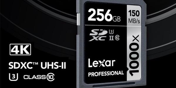 Tarjeta SDXC 256GB barata Lexar Professional