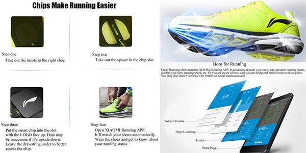 xiaomi li-ning zapatillas de running ligeras con registro de marcas de actividad fisica