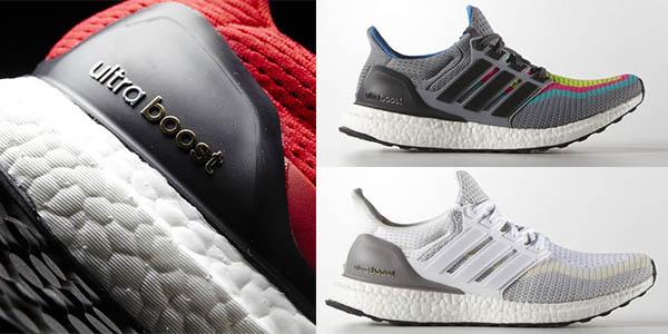 zapatillas de running para mujer y hombre adidas con suela continental y tecnologia boost