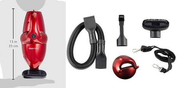 aspiradora compacta para uso diario y limpiar coche aparatos electrónicos con accesorios