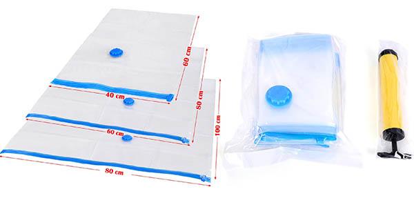 bolsas de plastico resistente para envasar al vacio ropa y mantas