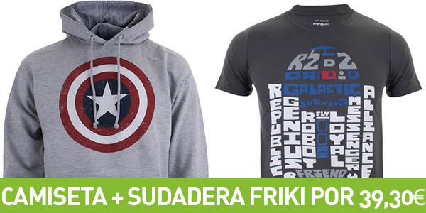 Sudadera + Camiseta Frikis en Zavvi