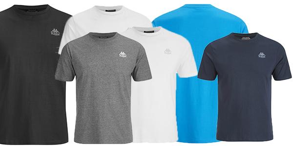 camisetas de manga corta en varios colores funcionales para vestir a diario marca kappa
