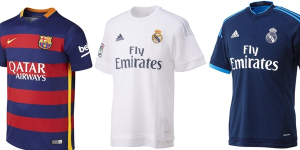 camiseta oficial Madrid Barça barata