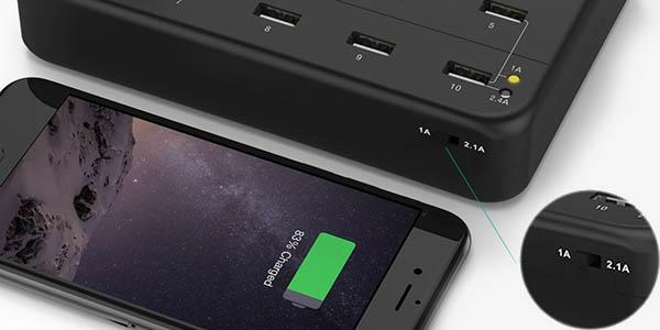 Cargador USB Aukey 1A y 2.4A