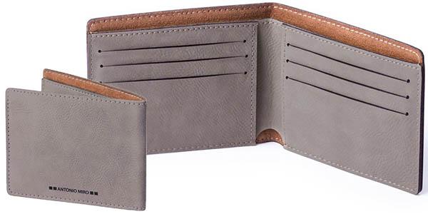 cartera con 9 compartimentos para tarjetas y billetes a precio brutal