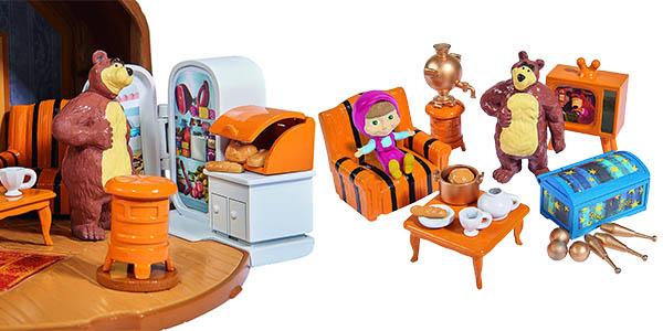 casa masha y el oso maletin con muñecos
