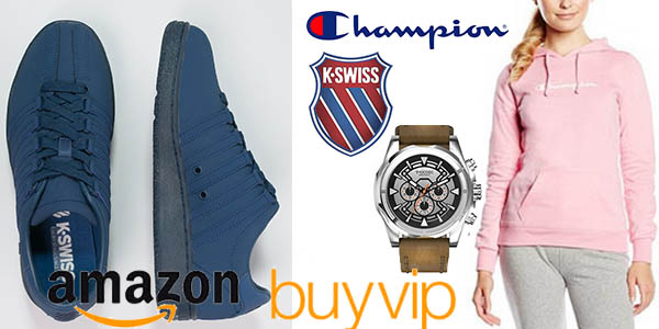 champion k-swiss y timecode cupon descuento semana amazon buyvip