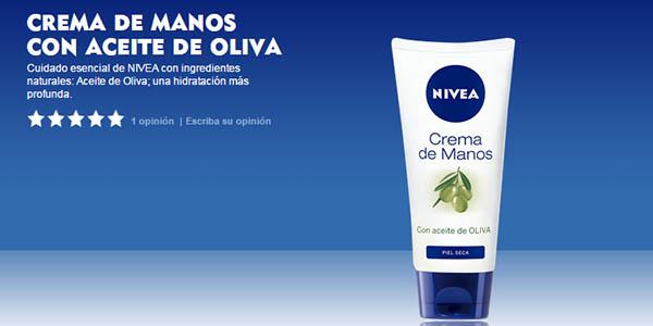 crema de aceite de oliva Nivea bote 100 ml