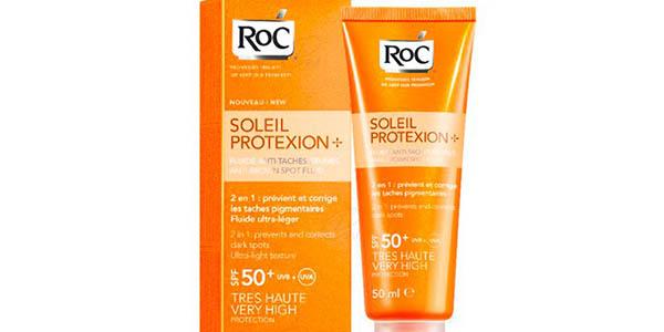 Crema solar Roc anti-manchas facial de factor 50+