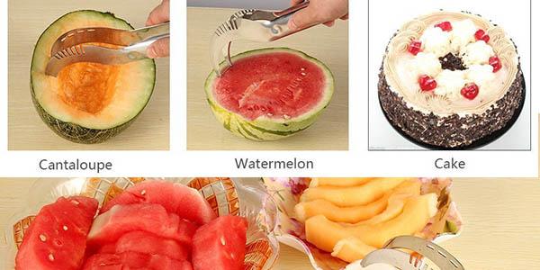 cuchillo practico para cortar a trozos fruta o pastel a precio brutal