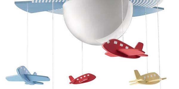 divertida luminaria para habitacion infantil con aviones de colores philips