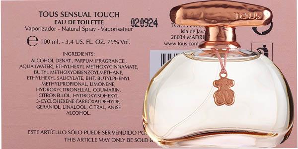 eau de toilette tous sensual touch precio brutal