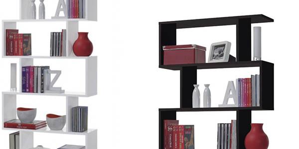 estanteria para salon funcional de diseño moderno blanco negro