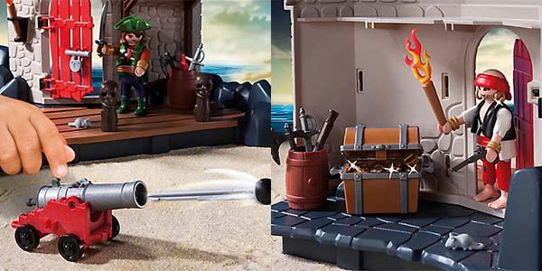 Detalles fortaleza pirata Playmobil