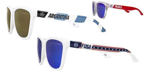 gafas de sol hawkers con cristales polarizados y patillas con banderas de paises