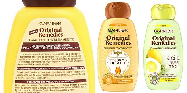 garnier original remedies para todo tipo de pelo a precio brutal