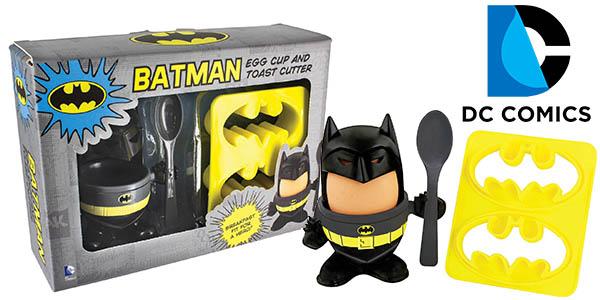 huevera con cortador tostadas de pan figura Batman barato