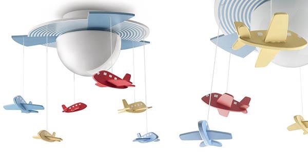 lampara aviones voladores de madera philips mykidsroom