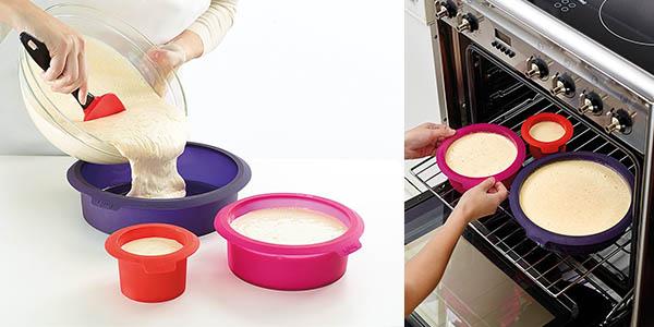 lekue set de moldes para hacer pasteles caseros de varios pisos