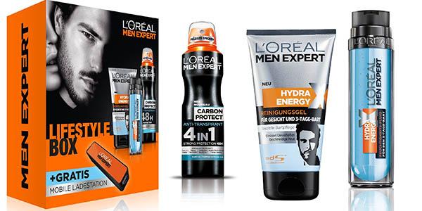 L'oreal men expert caja crema locion hidratante para pieles con barba cargador movil regalo a precio brutal