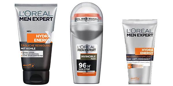 L'Oréal Men Expert gel crema hidratante y desodorante en formato pequeño para viajar a precio brutal