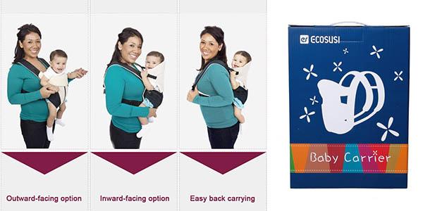 mochila practica para llevar al bebe hasta 9 kilos
