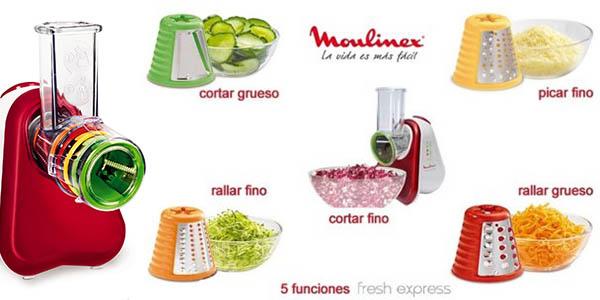 moulinex fresh express plus rallador de facil uso y rapido