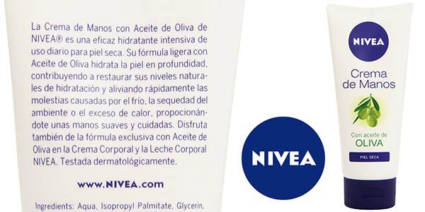 nivea crema de manos con aceite de oliva barata