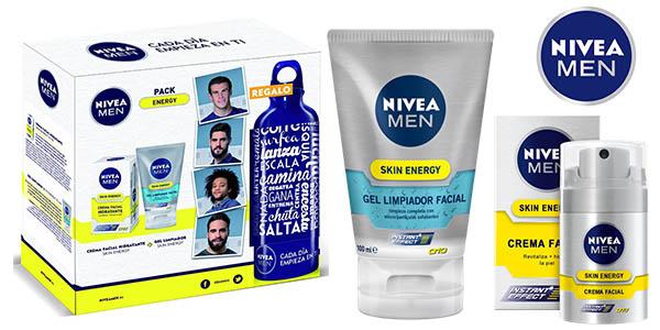 nivea men skin energy pack crema facial y limpiador barato