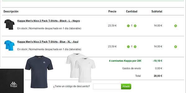 oferta camisetas kappa de algodon sencillas