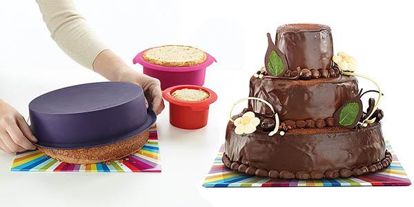 oferta lekue kit surprise cake con moldes diferentes tamaños en silicona
