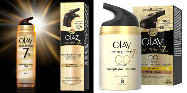 olay total effects cremas para pieles sensibles con vitaminas y proteccion solar