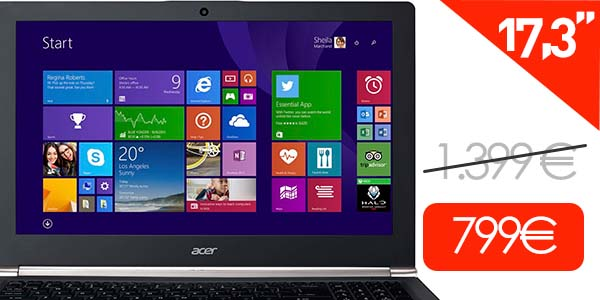 Portátil Acer Aspire VN7-791G-79JA