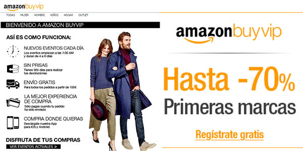 registro en amazon buyvip con descuentos