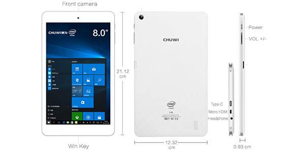 Tablet Chuwi HI8 Pro en color blanco