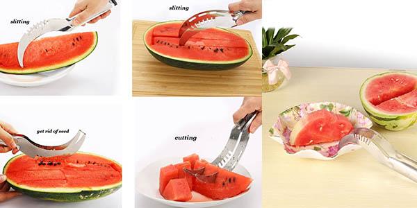 utensilio para cortar frutas redondos de acero inoxidable