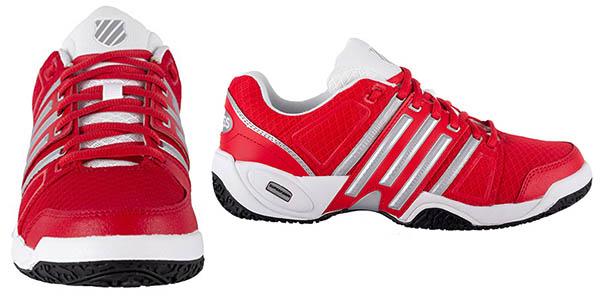 zapatillas para jugar a padel accomplish ii mesh omni fiery con suela deslizable y transpirables