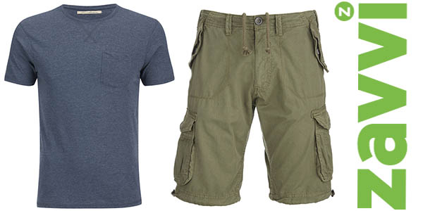 zavvi promocion camiseta y pantalon corto para hombre mayo 2016