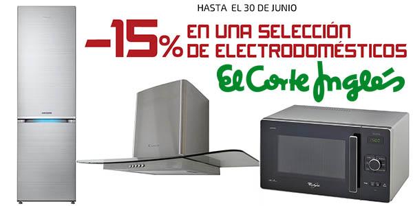15% descuento seleccion gran electrodomestico el corte ingles junio 2016