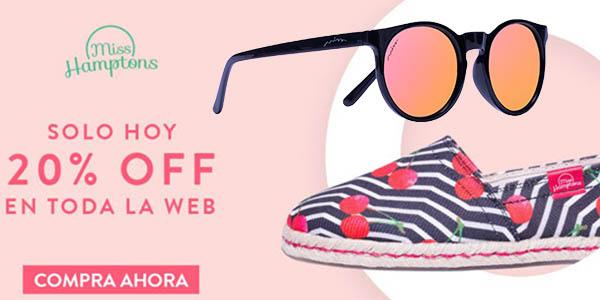 20% descuento tienda online miss hamptons catalogo gafas de sol y espardeñas 1 junio 2016