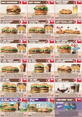 Burger King Cupones junio 2016