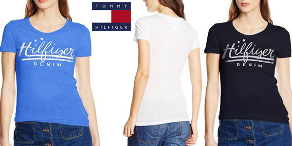 camiseta tommy hilfiger denim basic cotton algodon para mujer barata