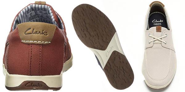 clarks norwin go zapatos comodos para hombre transpirables