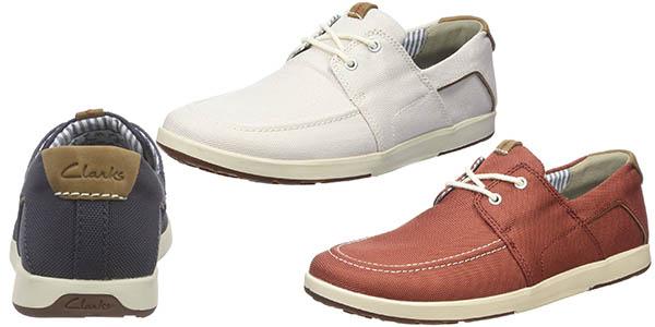 clarks norwin zapatos malla cuero suela amortiguacion precio brutal