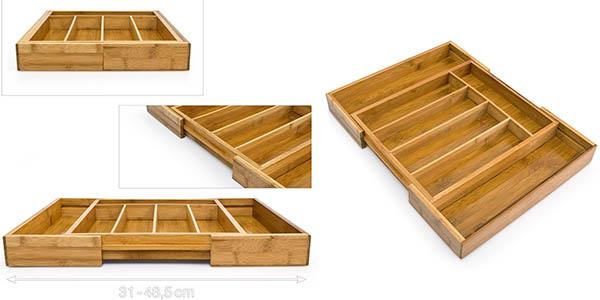 cubertera plegable en bambu para cajones