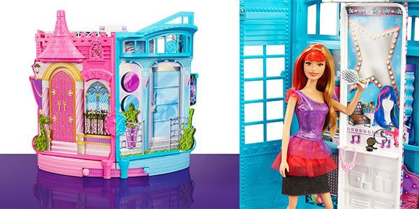escenario barbie campamento princesas con accesorios juego para mas de 3 años
