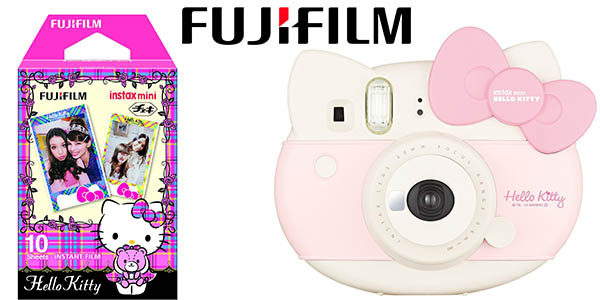 fujifilm instax mini hello kitty camara de fotos instantanea oferta flash amazon 14 junio 2016
