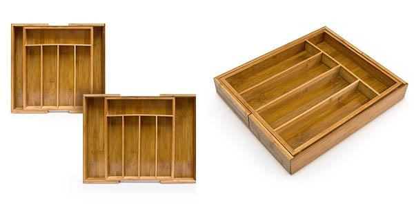 almacenaje de cubertería ordenada en armarios de cocina