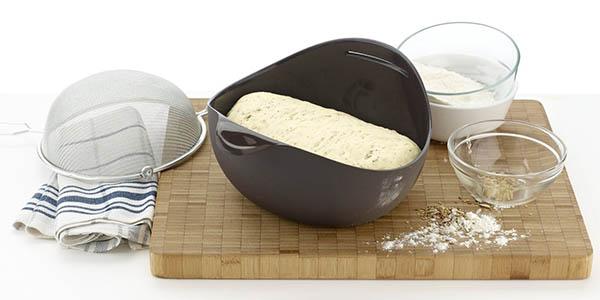 hacer pan artesano recipiente silicona lekue horno microondas